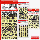 BLACK Iron On Letters Numbers Heat Transfer Alphabet Label -Half Inch -Inkviva