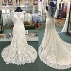 White/Ivory Sweetheart Lace Wedding Dress Bridal Gown Custom Size6-8-10-12-14-16