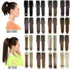New 33 colors 21.6'' Drawstring Straight Hair Ponytails Clip Hair Extension