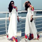 Women Chiffon Formal Floral Party Cocktail Evening Wedding L