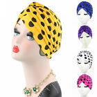 Women Indian Stretchable Hat Dotted Turban Chemo Headwrap Cap Head Wrap