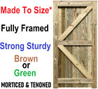 Closeboard Feather Edge Garden Gate - Treated Brown - Strong & Solid