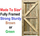 Closeboard Garden Gate - Treated Brown or Green - Strong & Solid