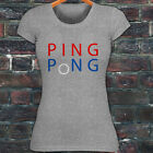 PING PONG BALL TABLE TENNIS PADDLE PLAYER GAMES Womens Gray T-Shirt