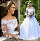 White Ivory Wedding Dress Bridal Gown Custom Size : 4 6 8 10 12 14 16 18 20