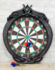 """Double Dragons Wall Mount Dart Board Game with Darts Wall Sculpture 24.5""""L"""