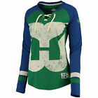 NHL Damen T-Shirt HARTFORD WHALERS Hip Check Women Shirt Eishockey