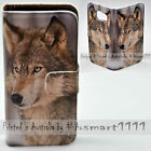 For Apple iPhone Series Case - Snow Grey Wolf Print Flip Wallet Phone Case Cover