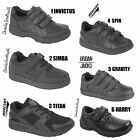 Boys Black School Shoes Girls Kids Smart Running Sports Fitness Comfort Trainers