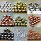 Wholesale 200/3000 Pcs Smooth Round Metal Copper Spacer Beads  3 6 8mm