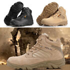 Men's Ankle Boots Tactical Comfort Combat Military Outdoor Desert Hiking Shoes