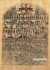 "Egyptian Papyrus Painting - Hieroglyphics & Gods 8X12"" + Hand Painted #67"
