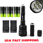 48000LM 3 X T6 LED Super Bright Tactical Torch Lamp Flashlight 18650+charger USA