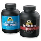 ABSORBINE SUPERSHINE HOOF POLISH AND SEALER FOR HORSE SHOWING  - BLACK CLEAR