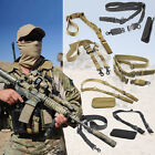 Tactical 1- 2 Point Rifle Sling QD Gun Strap Hunting Bungee Quick Release Detach