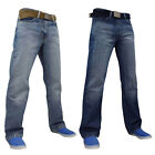 Mens FBM Branded Denim Jeans Trousers Zip Fly Dark & Light Washed
