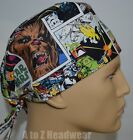 STAR WARS Comic Strip TRADITIONAL TIe Back Unisex Surgical Scrub Hat Cap $13.99 USD