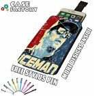 Kimi Raikkonen Iceman F1 Racing Art - Universal Leather Phone Pouch Case Cover
