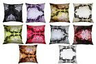 """COLOURFUL flock DAMASK LUXURY Cushion Covers  18"""" x 18"""" FREE P+P Many Colours"""