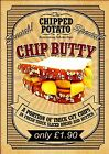 RETRO METAL PLAQUE :Special CHIP BUTTY  sign/ad
