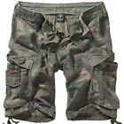 Brandit Vintage Classic Military Mens Cargo Combat Shorts Camping Woodland Camo