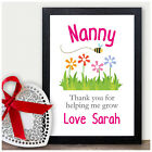 Keepsake Mothers Day Gifts Frame NANNY NANA NAN GRANNY GRAN Birthday Christmas