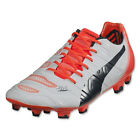 Puma Men's EvoPower 1.2 FG White/Total Eclipse/Lava Blast 103171 07