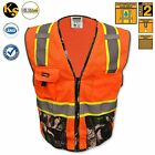 Camouflage Safety Vest Hi Visibility Hunting Camo Reflective Game ANSI Safety