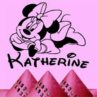 MINI MOUSE with YOUR NAME Wall Art Sticker Disney Gift Transfer Decal Girls
