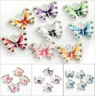New Lots 5/10pcs Enamel Animal Butterfly Pendant Charms Jewelry Findings DIY image