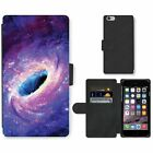apple blackhole - Phone Card Slot PU Leather Wallet Case For Apple iPhone Black hole and purple tu
