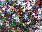 25 GRAMS LOOSE MIXED ASSORTED SHAPED SEQUINS SEWING CARD MAKING