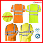 Hi Vis T Shirt ANSI Class 3 Reflective Tape Safety Short Sleeve HIGH VISIBILITY