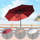 Outsunny 9ft Patio Umbrella Solar Market Sunshade Parasol Outdoor Garden W/ LED