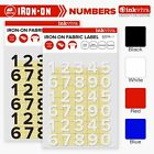 Inkviva Iron On Number Personalise Custom Heat Transfer Patch Label -Half Inch