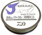 Daiwa X4 J-Braid Dark Green 300yds! CHOOSE YOUR SIZE