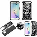 Diamond Bling Jewel Case for Samsung Galaxy S7 Edge Shockproof Soft TPU+PC Cover