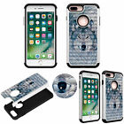 Diamond Bling Jewel Luxury Case for iPhone 7 Plus Shockproof Soft TPU+PC Cover