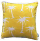 Cushion Cover Yellow Canvas Palm TreeTropical Indoor Outdoor Euro 60cm 40cm