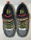 Skechers Boy's Ipox Rayz Boys' S Lights Light-Up Black/Red Athletic Shoes - 2