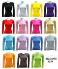THERMAL CREW-NECK LADIES LONG SLEEVE COTTON&Layer under medical scrub tops(2215)