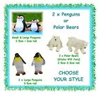 2 x MINIATURE penguins or polar bears - CHOOSE YOUR STYLE- fairy garden animals