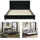Upholstered Platform Bed frame leather twin full queen foundation heavy duty NEW