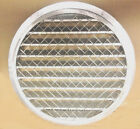 "Aluminum air intake or exhaust round louver with screen 6"", 10"" 12"" Round duct"