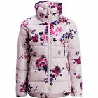 Joules Womens Florian Padded Jacket in Champagne Floral - Size 8