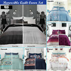 Toni Aquatic Celia Suza Damask Spiral Reversible Quilt Cover Set by Apartmento
