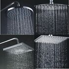 """Round Square Large 8"""" Chrome Stainless Steel Water Rainfall Overhead Shower Head"""