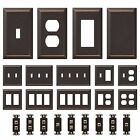 single wall outlet - Oil Rubbed Bronze Wall Switch Plate Outlet Cover Toggle Rocker GFI Duplex Outlet
