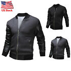 Fashion Men's Jacket Warm Winter Baseball Coat Slim Casual Outwear Overcoat USPS