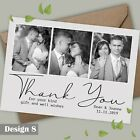 Photo Luxury Wedding Thank You Cards + Envelopes FLAT OR FOLDED